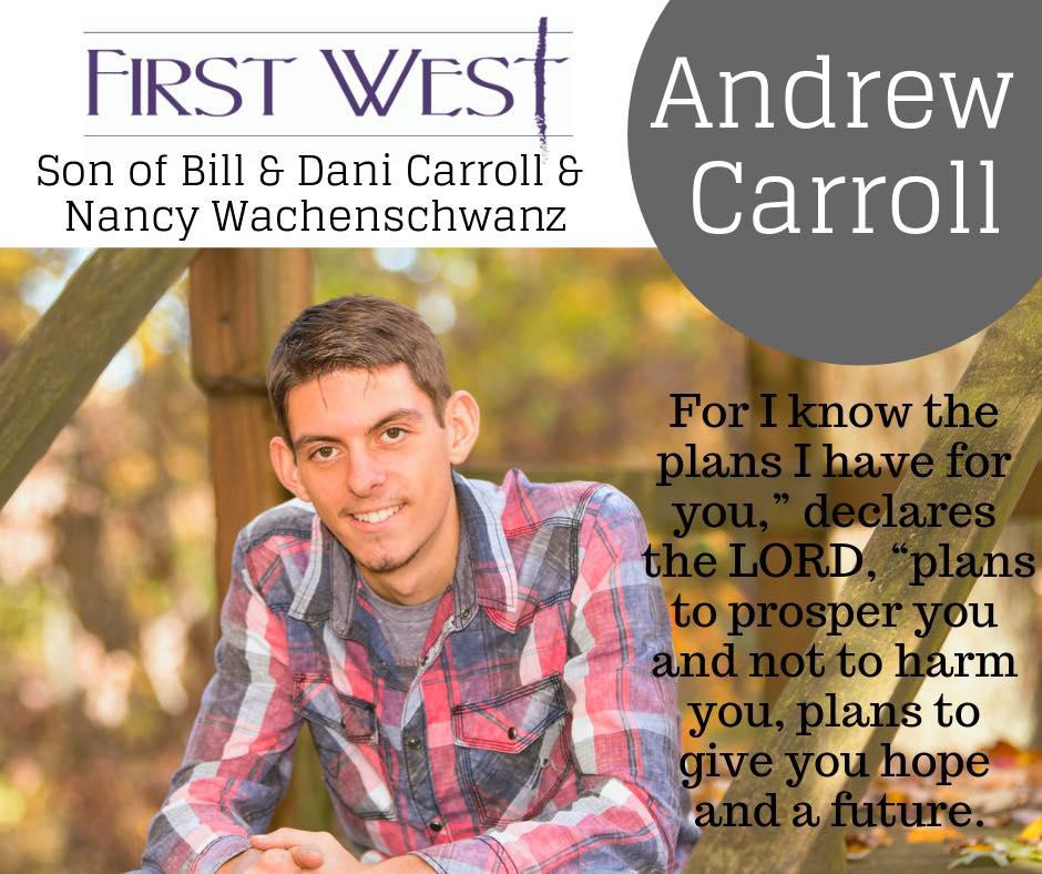 Photo of First West Graduate, Andrew Carroll