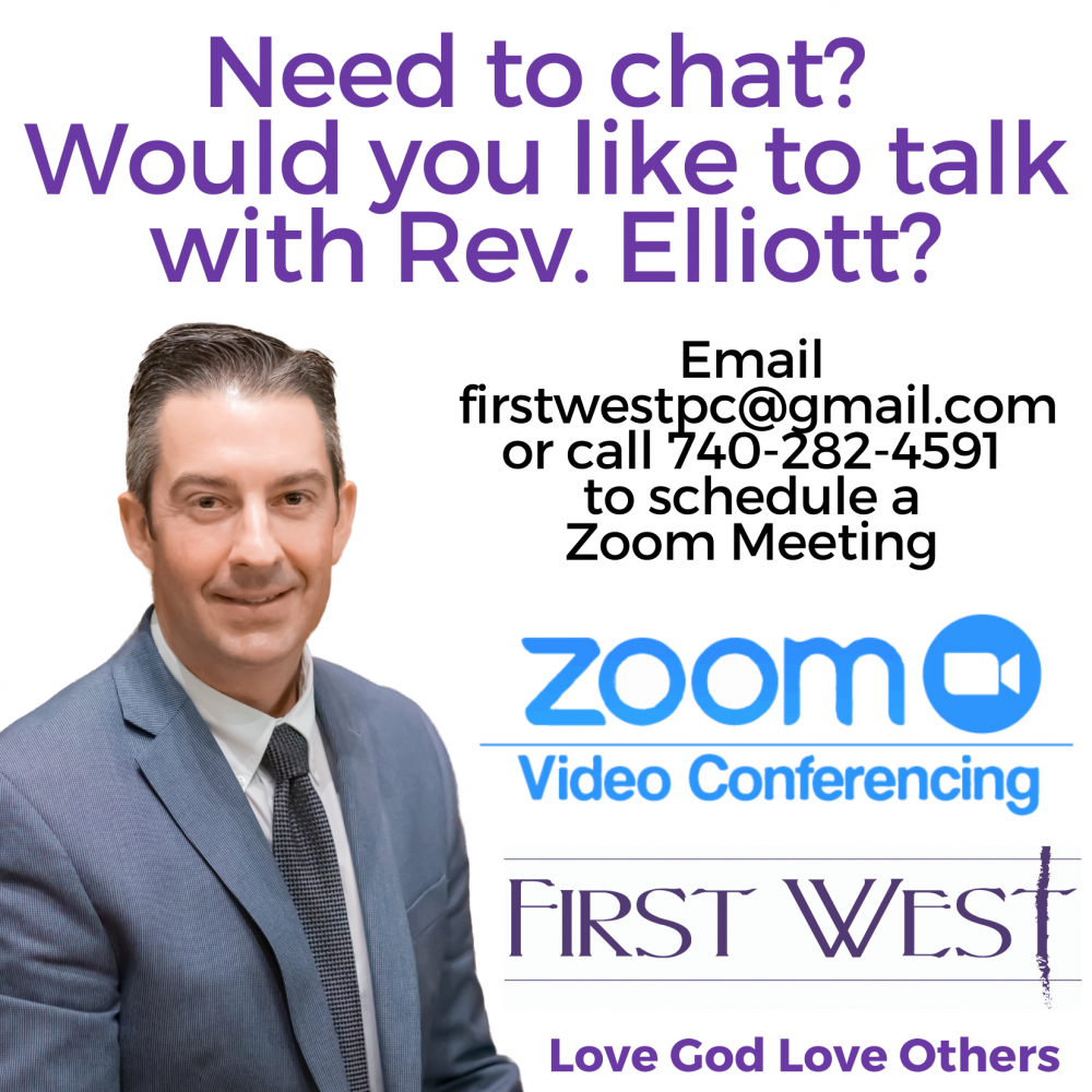 Photo of What to Chat with Rev. Elliott? Let's ZOOM!